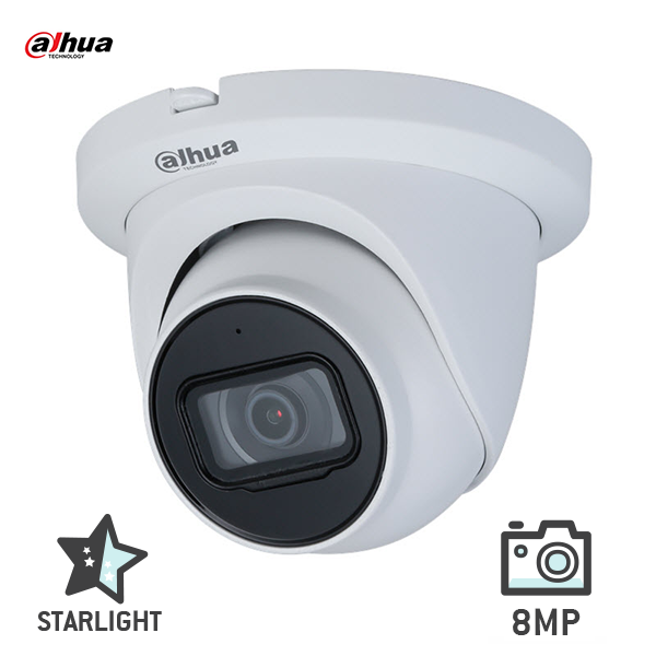 Dahua IPC-HDW2831TMP-AS-0280B 8MP (4K) Starlight Eyeball Network Camera