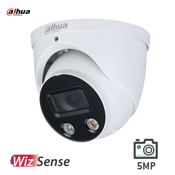 Dahua IPC-HDW3549HP-AS-PV-0280 5MP AI Active Deterrence Full color WizSense IP Turret Fixed 2.8mm