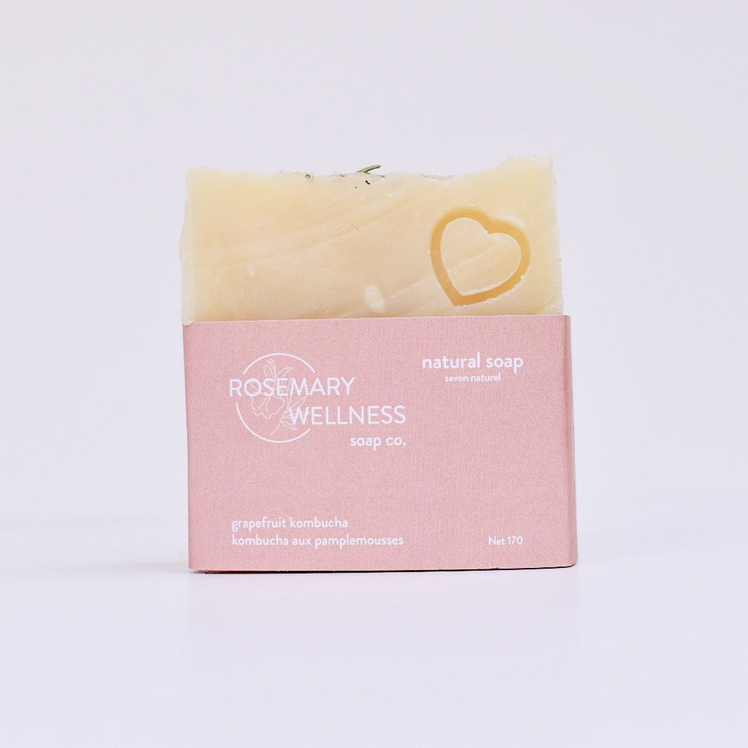 Grapefruit Kombucha Soap