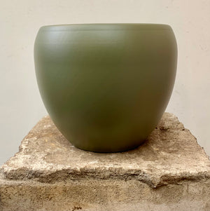 Khaki Ceramic Pot Cover - Small