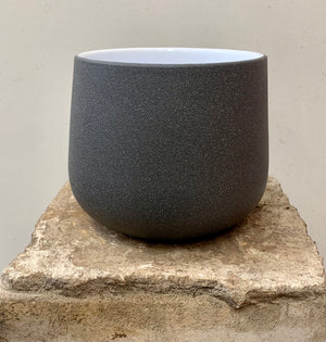 Stone Effect Dark Grey Pot Cover