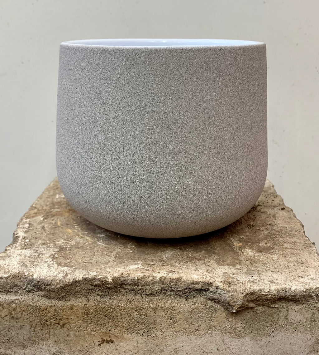 Stone Effect Grey Pot Cover