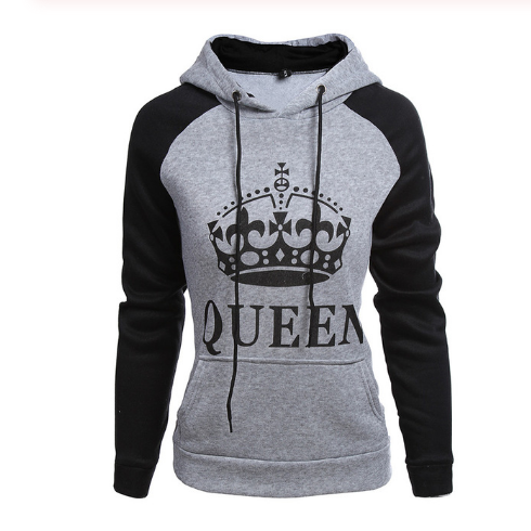 Queen Two Toned Hooded  Sweatshirt