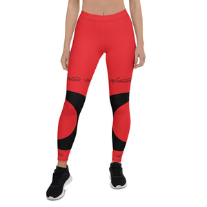 Worthacious Red and Black Leggings