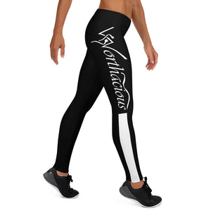 Worthacious Black and White Leggings