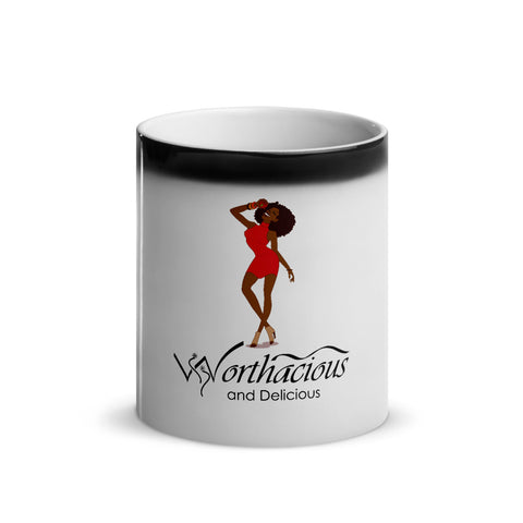 Worthacious and Delicious Glossy Magic Mug