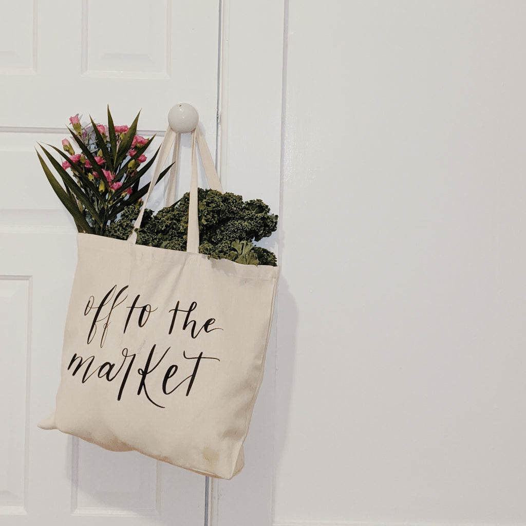 Off to the Market | Calligraphy Sustainability Tote