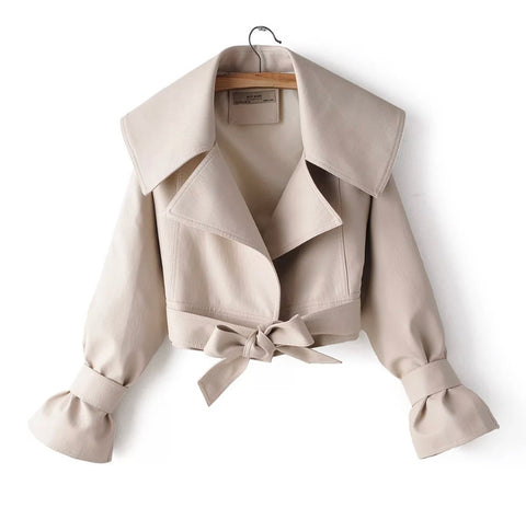 Beige Cropped Jacket