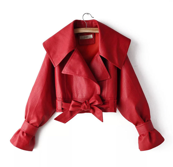 Red Rose Cropped Jacket