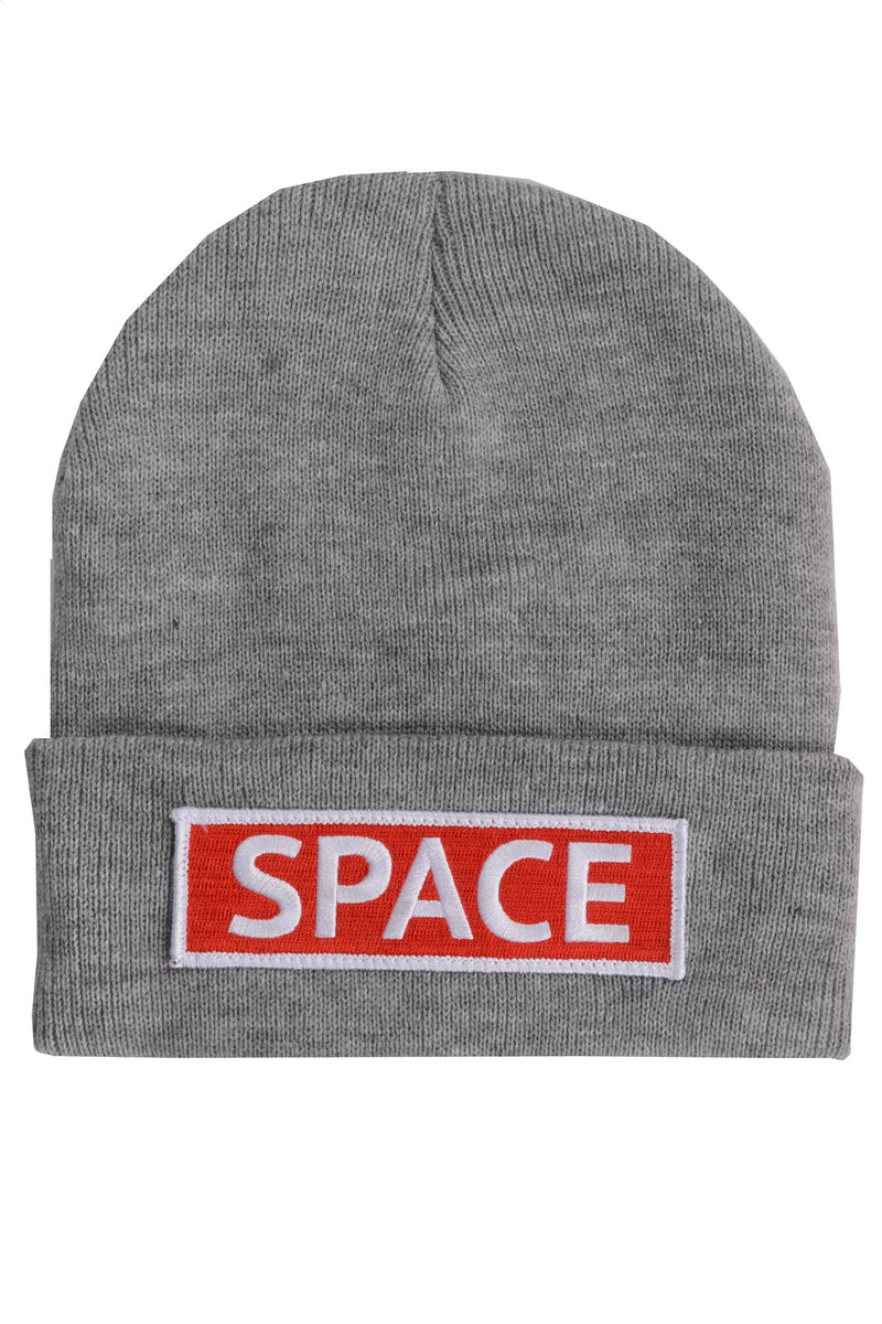 Space Knit Beanie~ Heather Grey