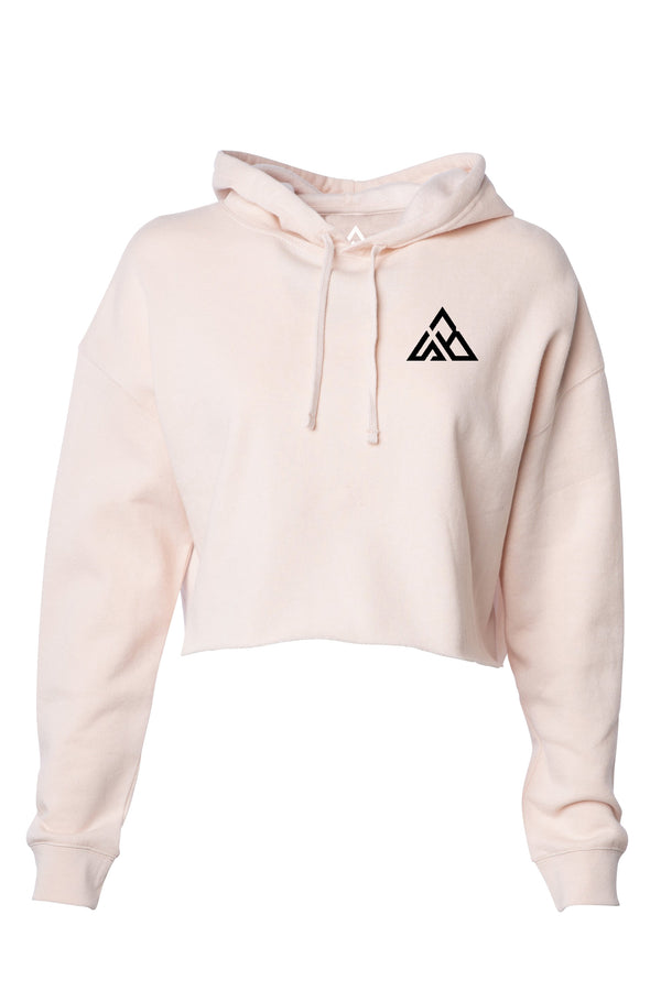 Vortex Lightweight Cropped Hoodie~ Blush