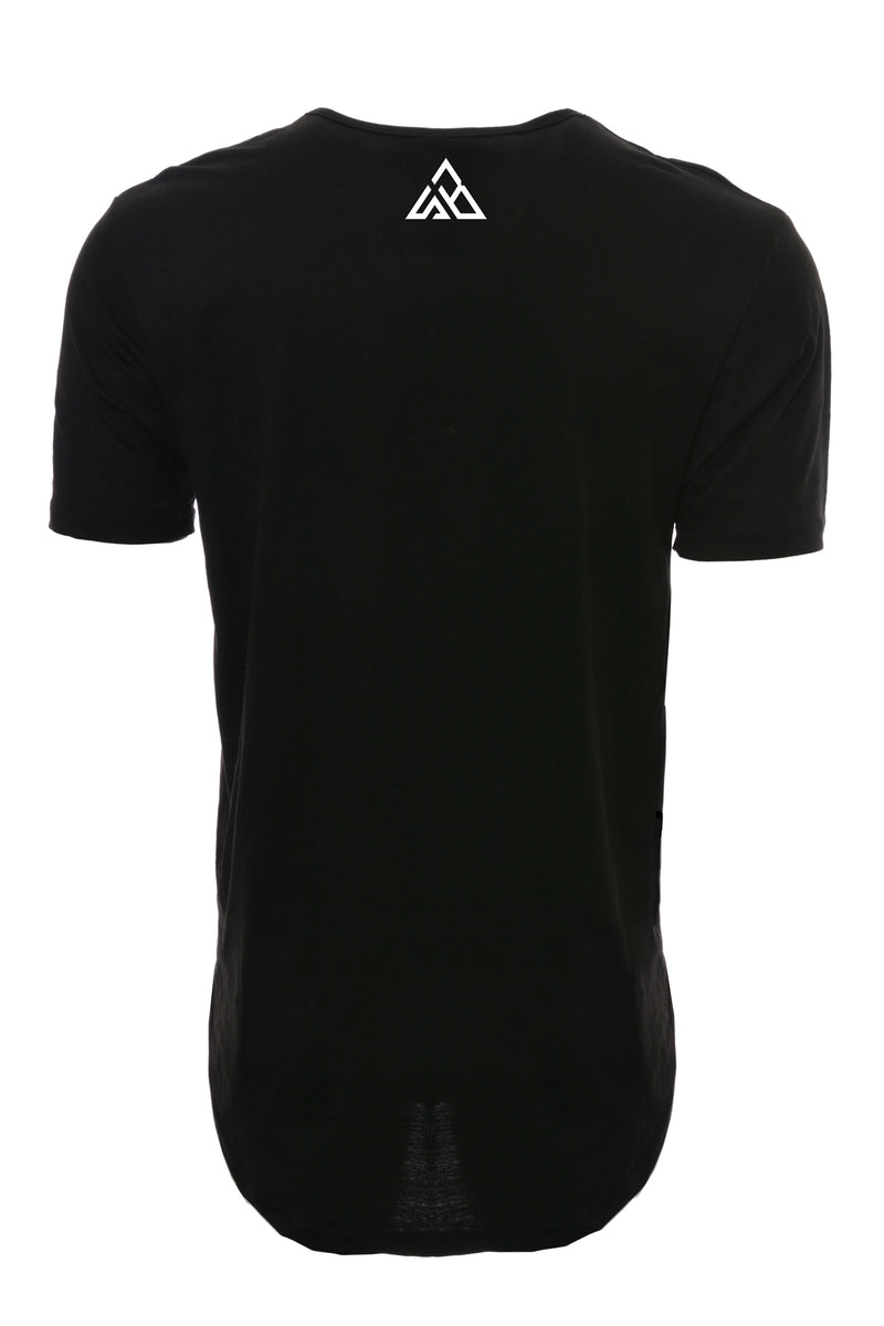 Spaced Out Unisex Drop Tail T-shirt~Black