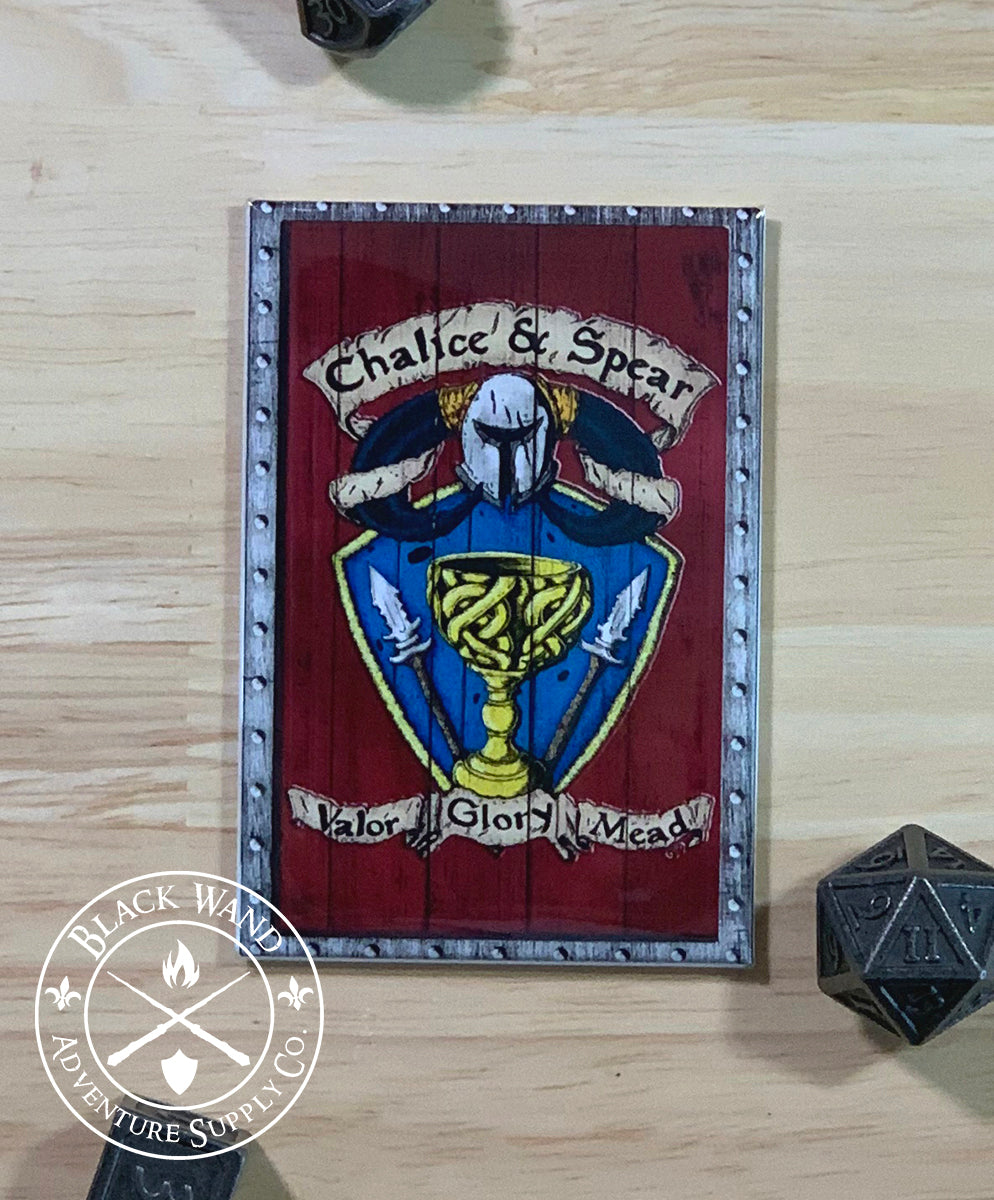 The Chalice & Spear fridge magnet