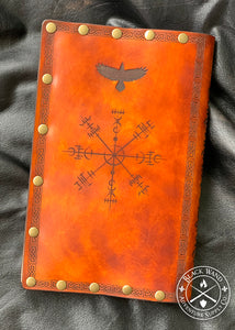 """Barbarian Folklore"" Leather Hardcover Journal"
