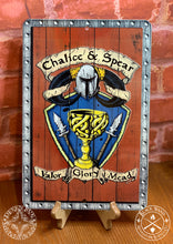 Load image into Gallery viewer, Chalice & Spear metal sign