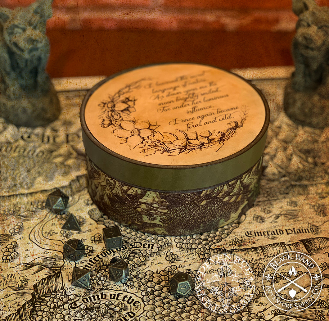 Druid Moon Leather Box