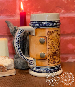 """Illustrated Map"" Ceramic Flagon"