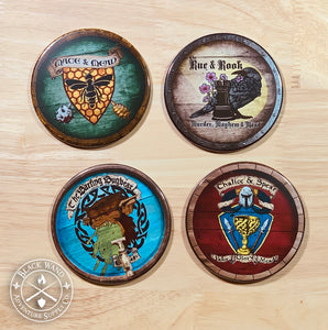 Medieval Tavern Sign coaster pack