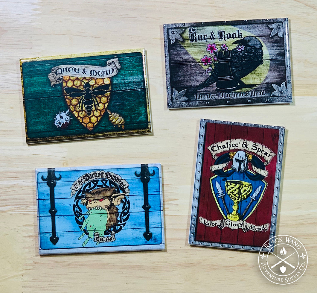 Medieval Tavern Sign magnet pack