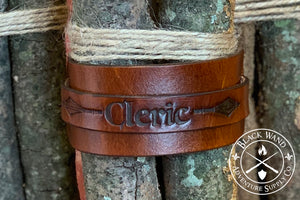 Cleric's Leather Wrist Cuff