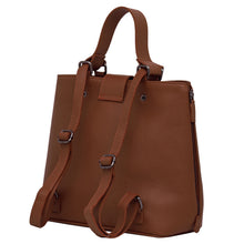Load image into Gallery viewer, Handbag | Tote | Backpack | Brown |  100% Italian leather | Handcrafted | Greece |