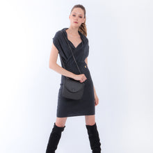 Load image into Gallery viewer, Handbag | Belt Bag | Shoulder Bag | Grey |  100% Italian leather | Handcrafted | Greece |