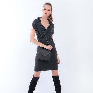 Handbag | Belt Bag | Shoulder Bag | Grey |  100% Italian leather | Handcrafted | Greece |