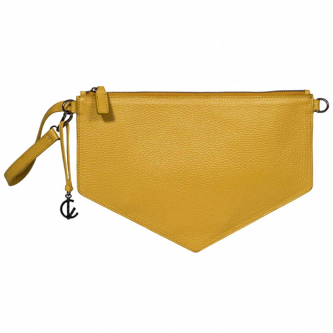 Clutch Bag | Yellow | Handbags | Handmade | 100% Italian Leather | Made in Greece