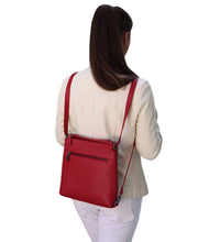 Load image into Gallery viewer, MESSENGER  BAG BACKPACK HANDMADE IN GREECE FROM ITALIAN LEATHER