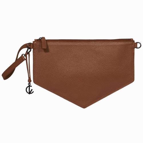 Clutch Bag | Brown | Handbags | Handmade | 100% Italian Leather | Made in Greece