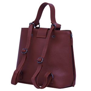 Handbag | Tote | Backpack | Bordeaux |  100% Italian leather | Handcrafted | Greece |