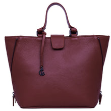Load image into Gallery viewer, Handbag | Tote | Backpack | Bordeaux |  100% Italian leather | Handcrafted | Greece |