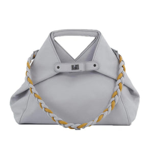 Handbag | Shoulder Bag | Tote | Belt | Light Grey |  100% Italian leather | Handcrafted | Greece |