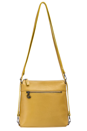 Handbag | Shoulder Bag | Backpack | Messenger Bag | Yellow |  100% Italian leather | Handcrafted | Greece |