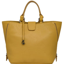 Load image into Gallery viewer, Handbag | Tote | Backpack | Yellow |  100% Italian leather | Handcrafted | Greece |