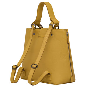 Handbag | Tote | Backpack | Yellow |  100% Italian leather | Handcrafted | Greece |
