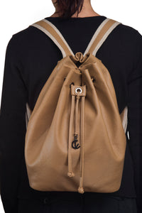 Backpack | Cappuccino | 100% Italian leather | Handcrafted | Greece |