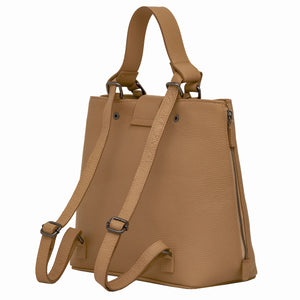 Handbag | Tote | Backpack | Cappuccino |  100% Italian leather | Handcrafted | Greece |