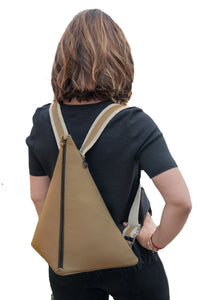 Backpack | Cappuccino | Patented 100% Italian leather | Handcrafted | Greece |
