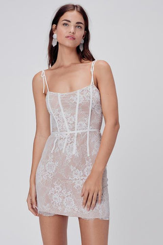 Cheyenne Lace Mini Dress - Sofie Grey