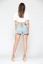 Load image into Gallery viewer, Sofie High Rise Uneven Hem Mom Short