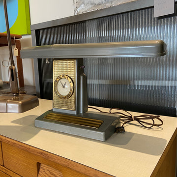 Industrial Lamp with Clock