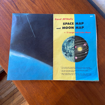 Space and Moon Map Poster