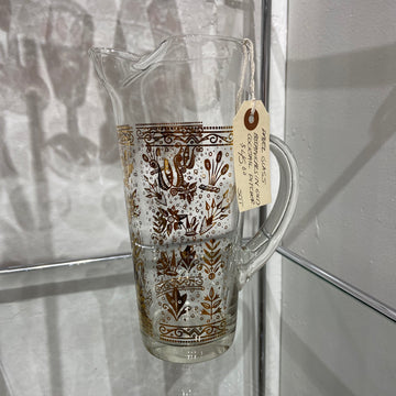 Pavel Glass Botanicals in Gold Cocktail Pitcher