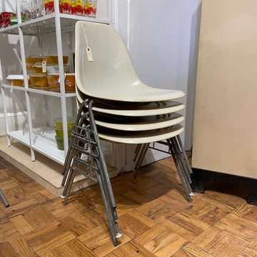 Set of 4 1950s Eames Stacking Shell Chairs