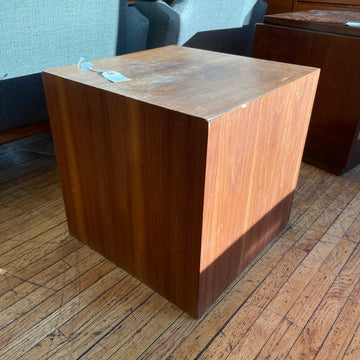 Walnut Cube Plinth