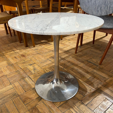 Mid Century Marble Top Tulip Side Table