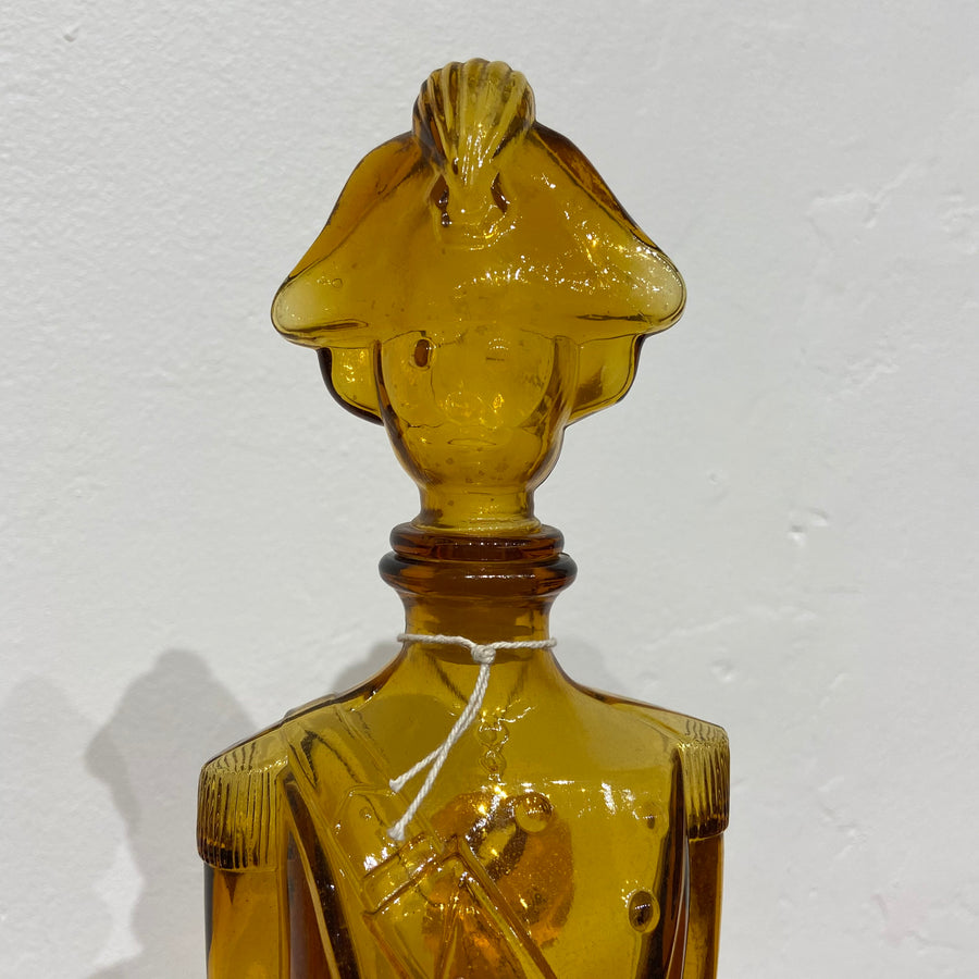 Amber Glass Soldier Decanter