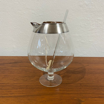 Dorothy Thorpe Silver Band Snifter Pitcher with Stir Stick