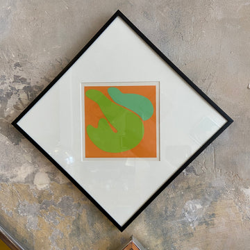Robert Clark Nelson Pop Art Collage Study - Orange/Green